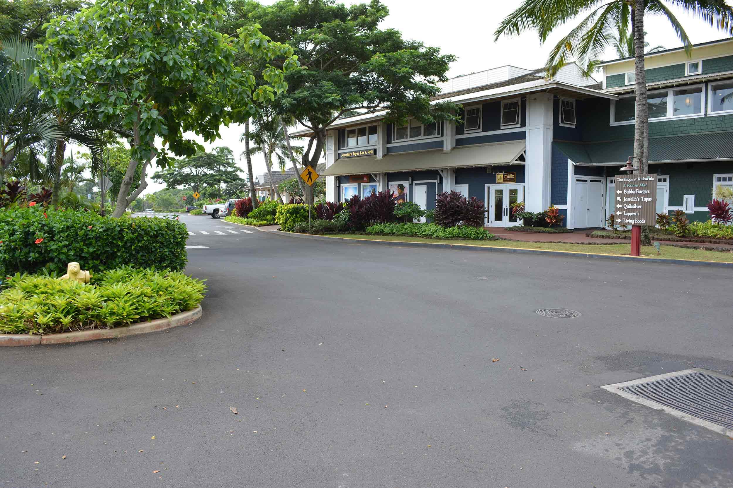 landscaping for shops at Kukuiula Kauai Hi