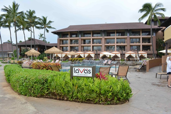 Landscaping for the Sheraton Kauai Resort pool in Koloa Hi