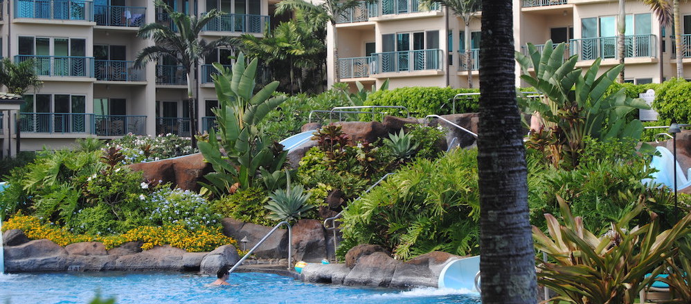 Waipouli 2-acre pool is the resort's signature amenity.