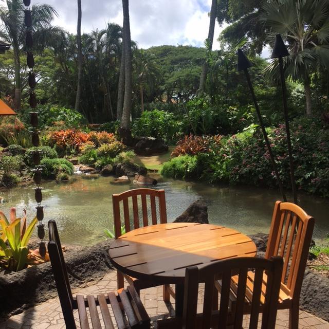 Keoki's Paradise pond and landscape