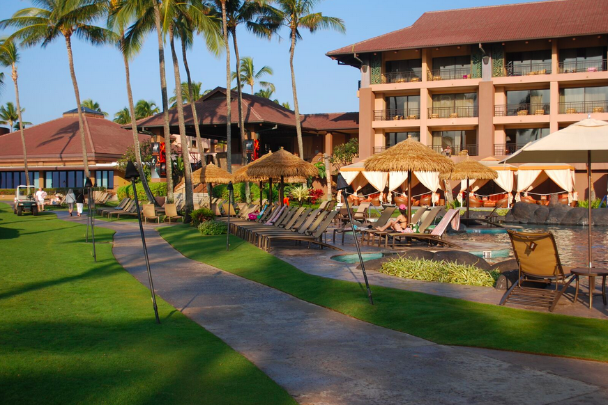 Landscaping for the Sheraton Kauai Resort near pool in Koloa Hi